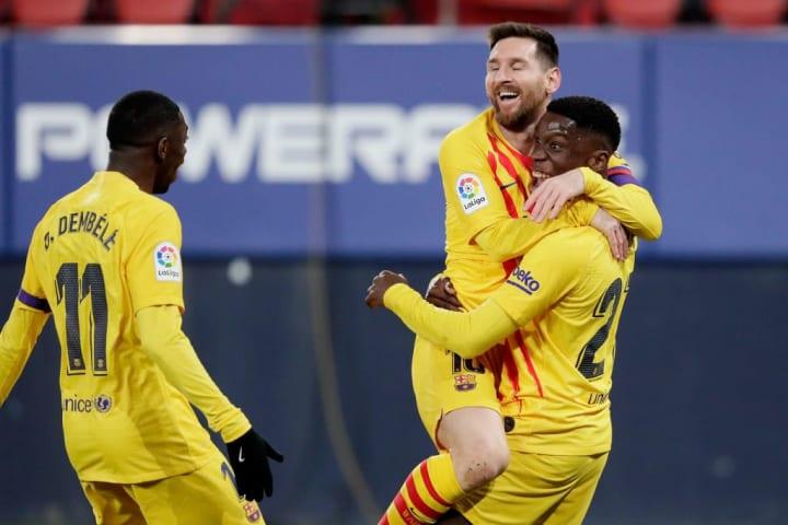 Ilaix Moriba, Lionel Messi, Ousmane Dembele