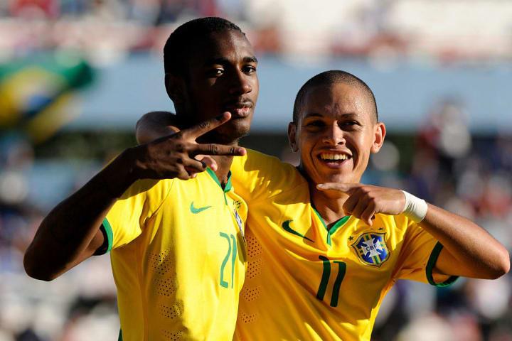 Gerson representing the Brazilian Under-20 side