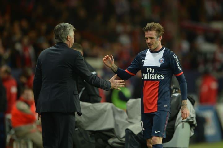 Carlo Ancelotti, david Beckham