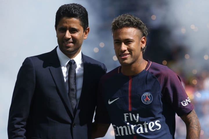 Neymar cost PSG €222m in 2017