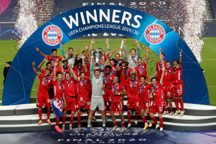 Bayern Munich celebrate winning the Champions League - which is set for a format change