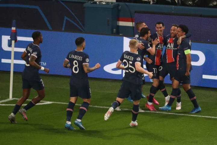 PSG took an early lead against Manchester City