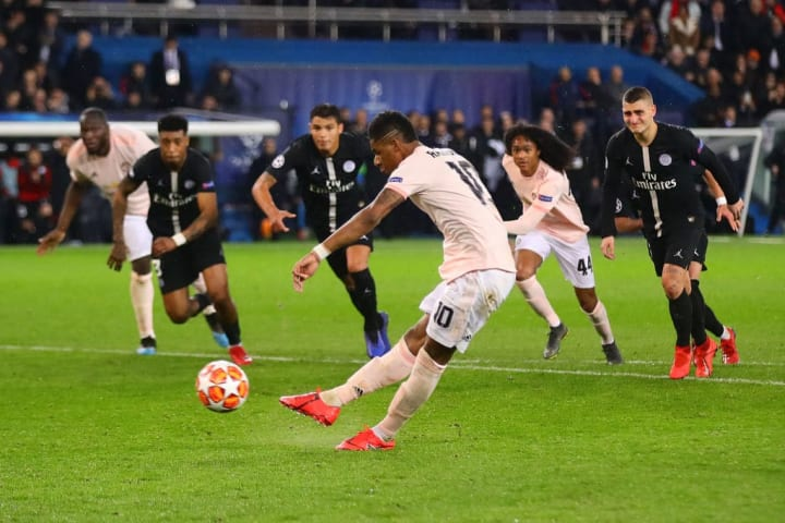 Man Utd beat PSG in Paris with a depleted squad in 2019