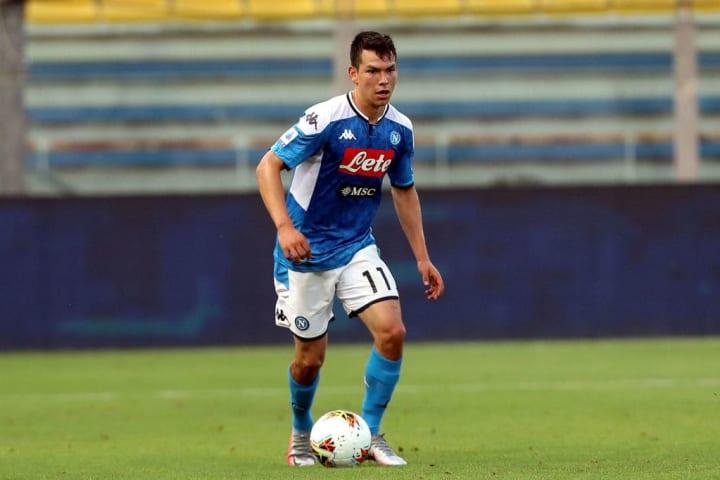 Hirving Lozano con el Napoli