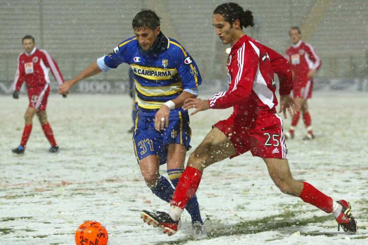 Parma's Italian striker Daniele Degano (