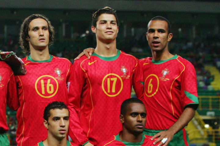 A young Ronaldo scored a banger against Russia in 2004
