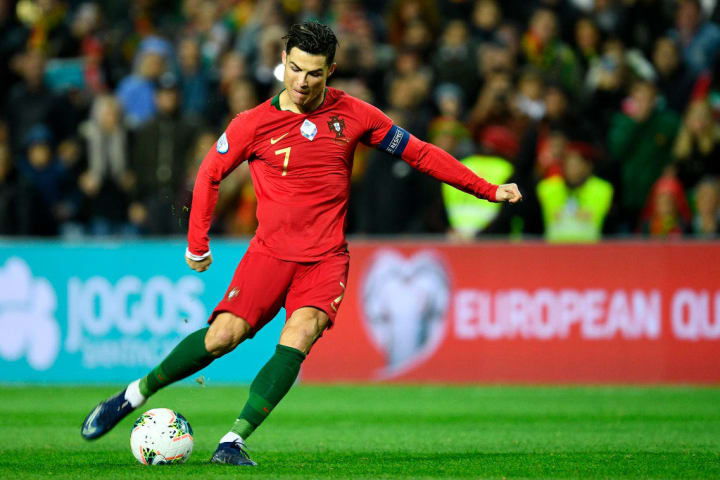 Ronaldo curled in a first-time effort against Lithuania