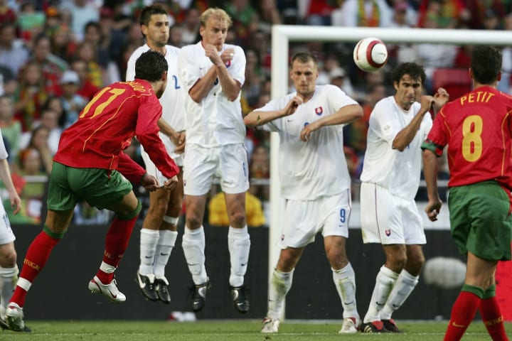 Ronaldo's trademark free-kick style soon became iconic