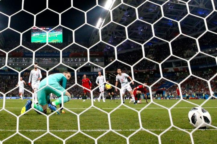 David de Gea est coupable d'une faute de mains face au Portugal lors de la Coupe du monde 2018
