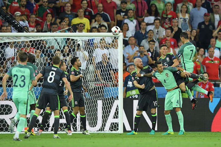 Ronaldo impossibly hung in the air to score his Euro 2016 header against Wales