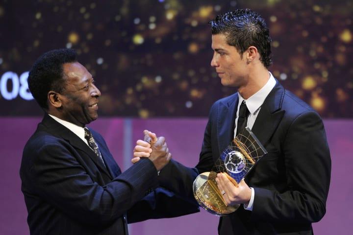 Cristiano y Pele son dos de los máximos goleadores de la historia