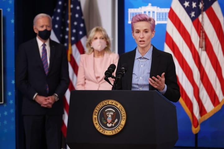 Joe Biden, Jill Biden, Megan Rapinoe