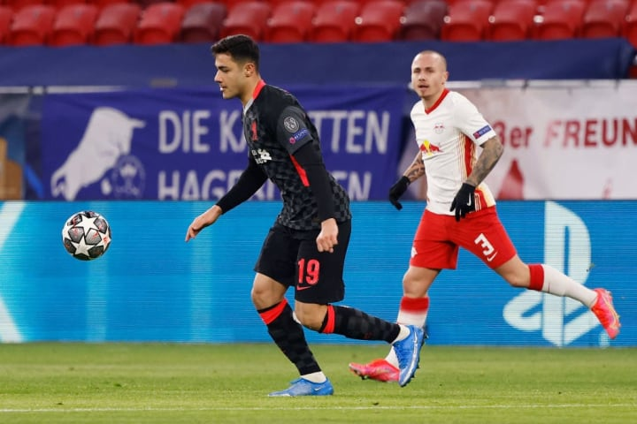 Kabak was handed his first Champions League start for Liverpool