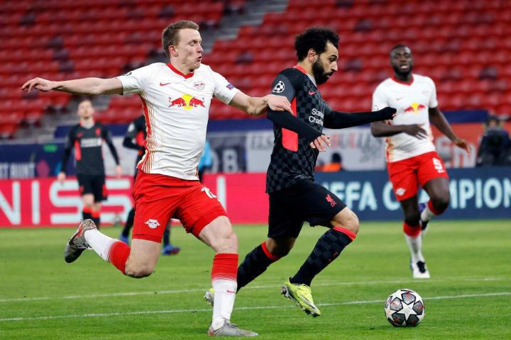 Salah seized upon Sabitzer error to open the scoring