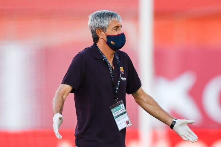 Quique Setien has admitted that the midfielder's status is a mystery to him