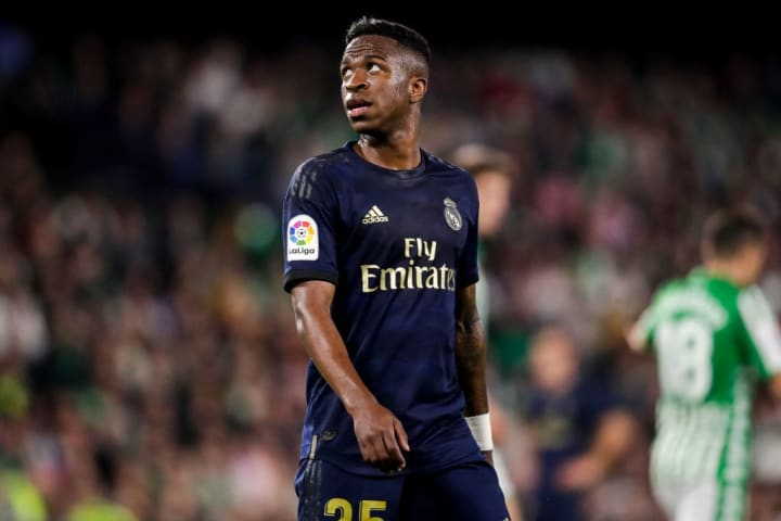 Vinicius scored the opener as Real Madrid beat Barcelona in March