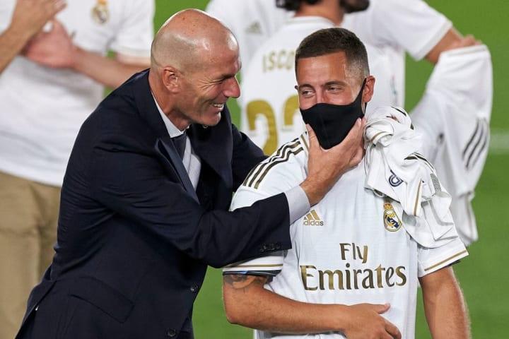Eden Hazard, Zinedine Zidane, Manager of Real Madrid