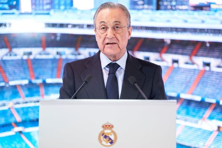 Real Madrid president Florentino Perez was one of the architects of the Super League