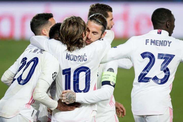 Ferland Mendy, Luka Modric, Sergio Ramos, Vinicius Junior