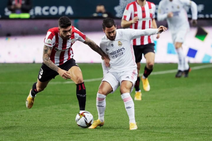 Eden Hazard up against Athletic