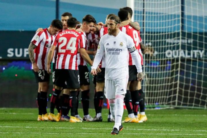 El último partido de Ramos fue en la Supercopa contra el Athletic