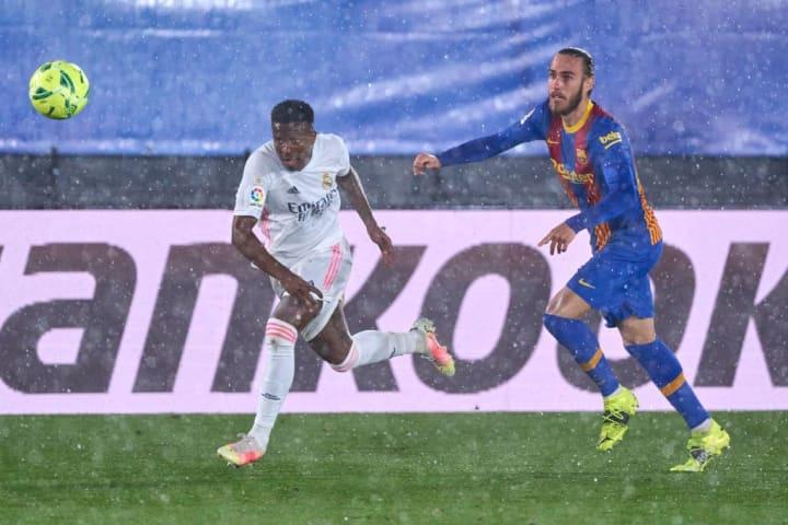Vinicius Junior Mingueza Real Madrid Barcelona La Liga Repúdio Superliga