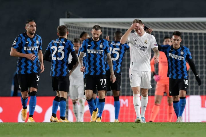 Real edged past Inter to pick up their first win in the UCL this season after failing to beat Shakhtar and Borussia Mönchengladbach