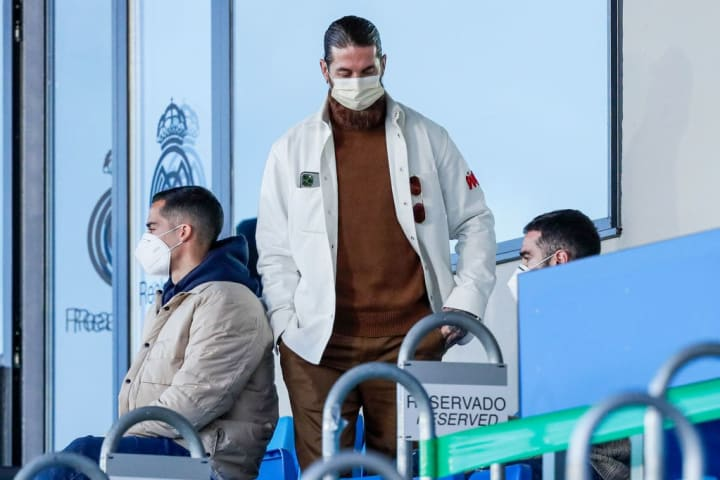 Sergio Ramos is currently forced to watch from the stands