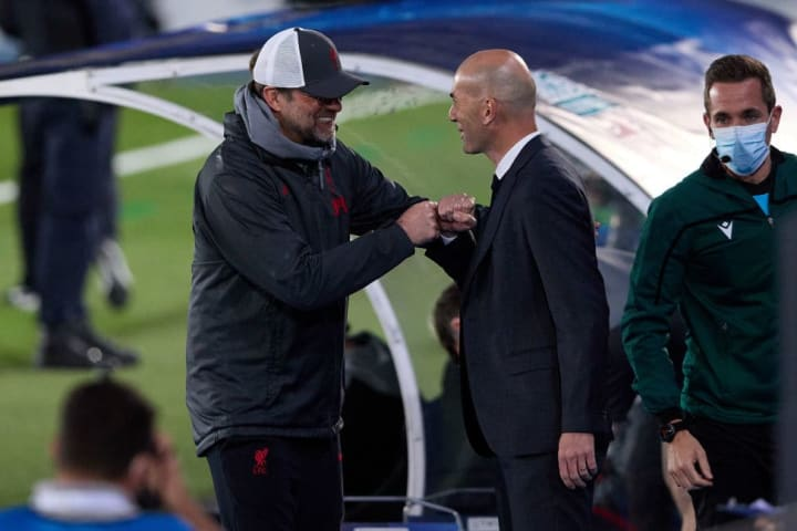Jurgen Klopp and Zinedine Zidane will be vying for a place in the Champions League semi-final