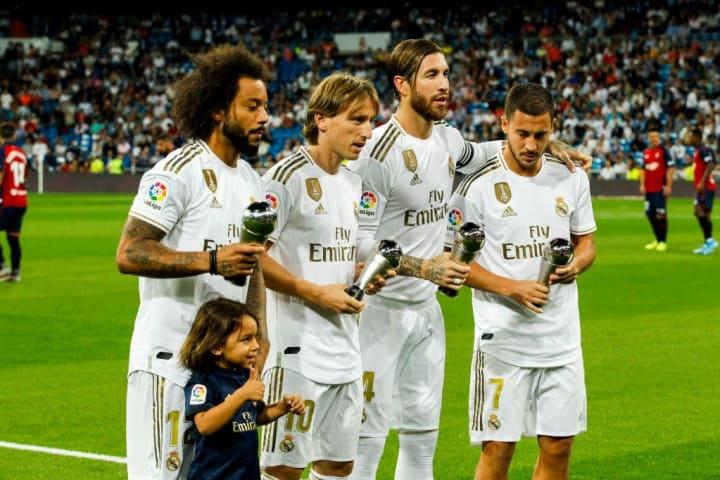 Eden Hazard, Luka Modric, Marcelo, Sergio Ramos