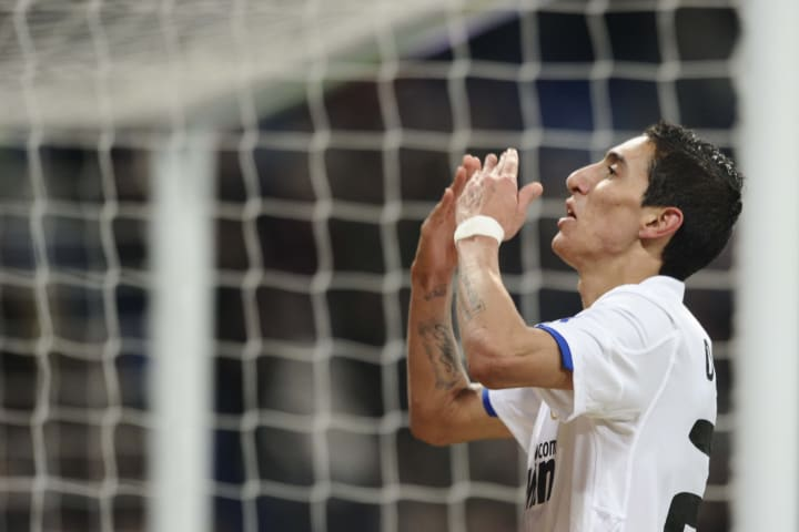 Real Madrid's Argentinian midfielder Ang