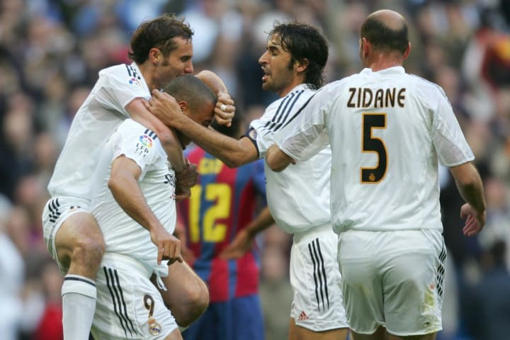 Raul was joined at Real Madrid by a whole host of superstars