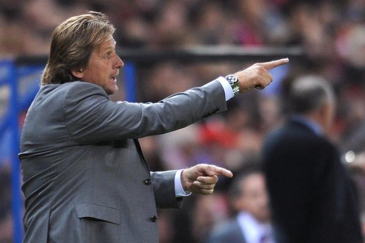 Real Madrid's German coach Bernd Schuste