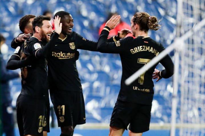 Antoine Griezmann, Lionel Messi, Ousmane Dembele, Sergino Dest