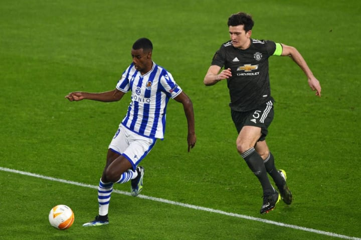 Harry Maguire struggled to contain Isak