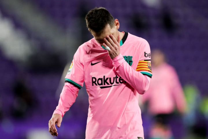 Messi has endured his most difficult year at Barcelona to date