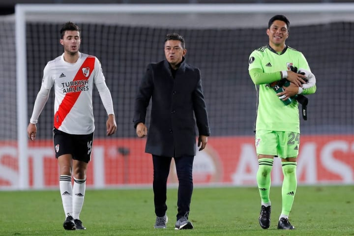What a night for Enzo Perez and his River teammates
