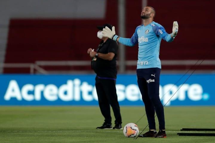 Weverton Goleiro Palmeiras Católica Libertadores Oitavas
