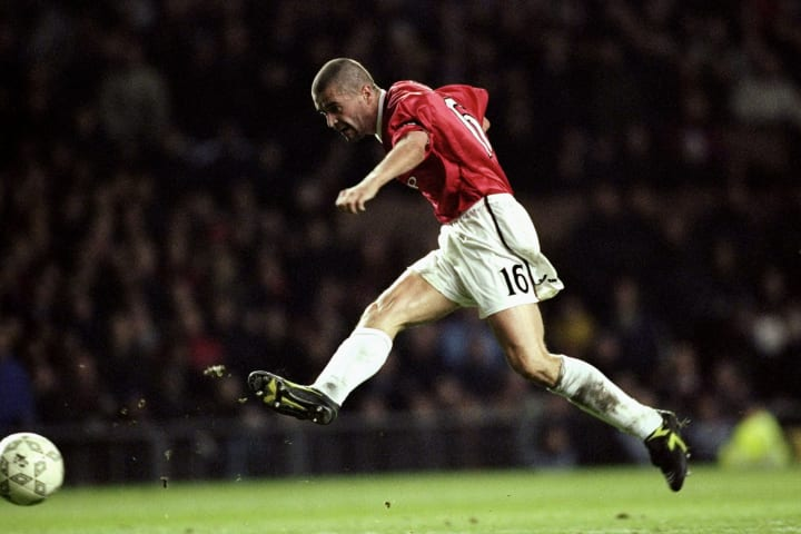 Roy Keane scored double figures only once for Man Utd