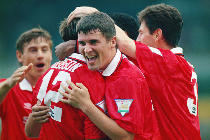A young Roy Keane scored a late Manchester derby winner in 1993
