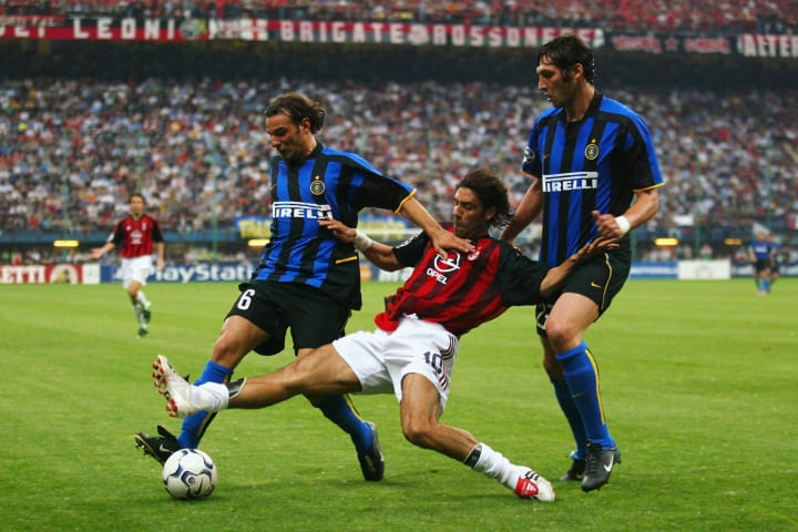 City rivals Milan and Inter met in the Champions League in 2003