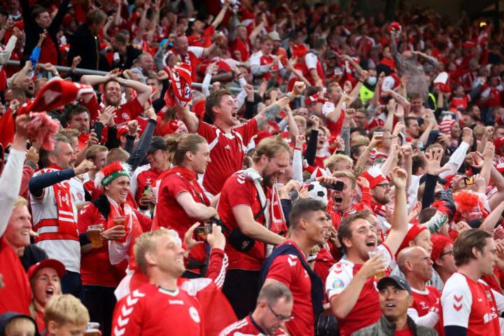 Russland gegen Dänemark - Fans