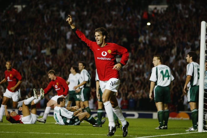 Man Utd eased past Panathinaikos at Old Trafford in 2003