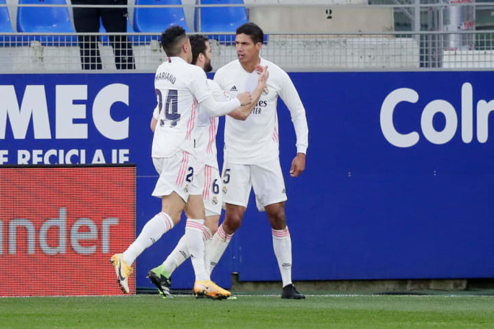 Raphaël Varane double buteur ce samedi face à Huesca.