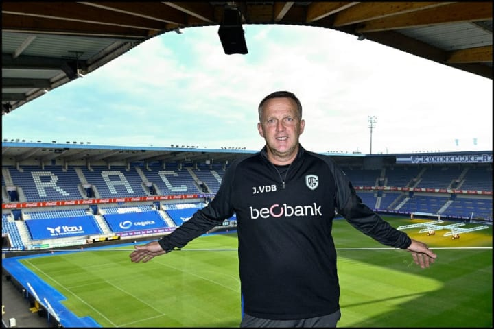 SOCCER KRC GENK PRESS CONFERENCE NEW COACH