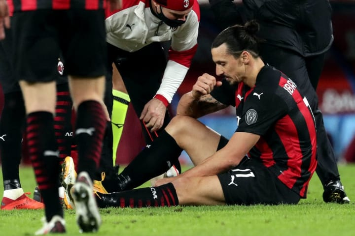 Ibrahimovic will miss the game with a thigh injury