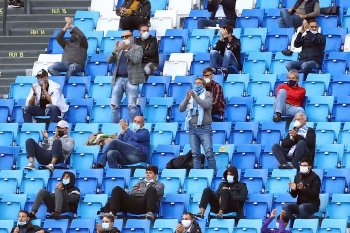 Limited numbers of fans returned to Serie A games