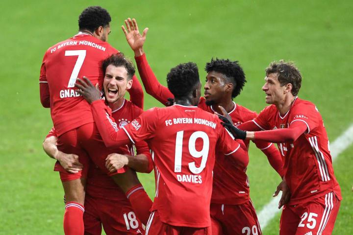 Serge Gnabry, Leon Goretzka, Alphonso Davies, Kingsley Coman, Thomas Mueller, Bayern de Munique