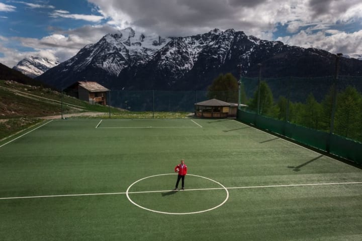 The Ottmar Hitzfeld Stadium  in Switzerland