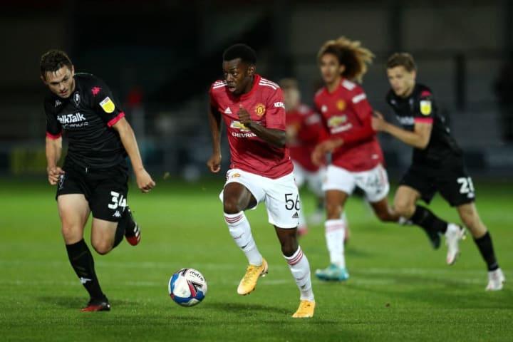 Elanga scored & assisted against Salford in the EFL Trophy
